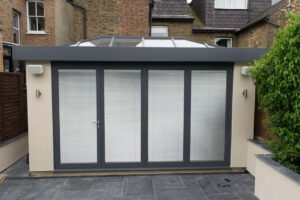 integral blinds on bifold doors