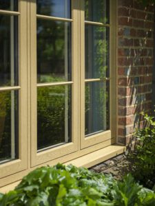 Timber look PVCu window in a new home.