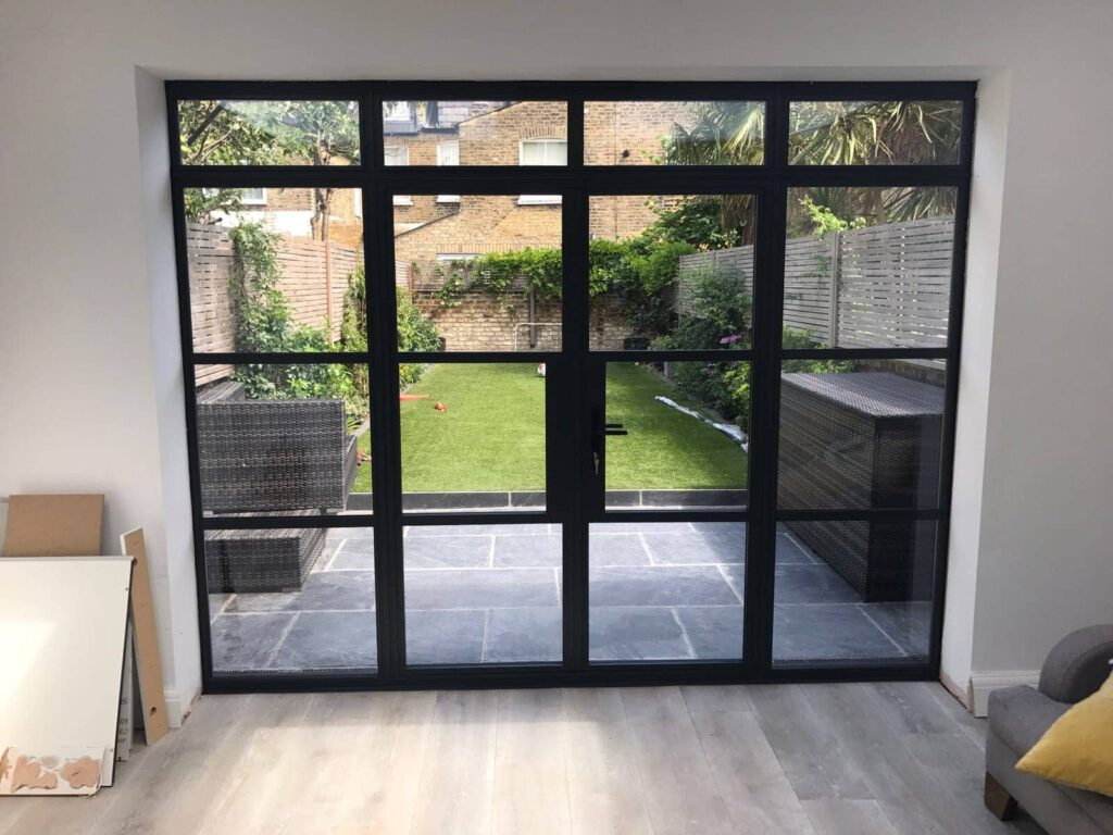 steel replacement windows and doors in putney house