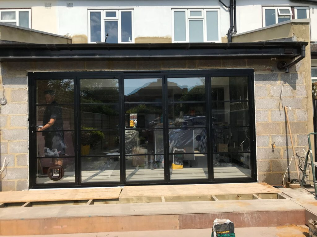 best website f5671 4c528 SW20 Steel-look Bifold Doors | Aspire Bifolds - Home ...